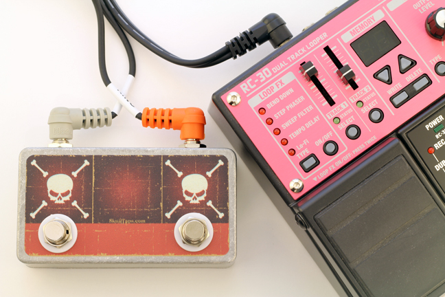 Dual Skull Tap with Boss RC-30 Loop Station